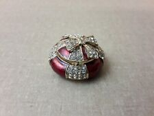 Small Red Bejeweled Present Trinket Box