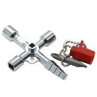 Universal Cross Square Triangle Electrical Cabinet Elevator Lift Key Wrench