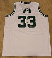 Larry Bird Signed Custom Jersey Boston Celtics Beckett-W COA