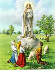 Catholic Picture Print Our Lady of Fatima Linen Finish by Cromo of Italy 8x10