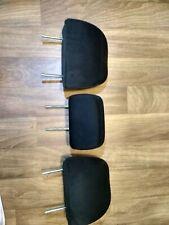 09-13 SUBARU FORESTER REAR SEAT 2ND ROW HEADREST SET HEAD RESTS BLACK CLOTH OEM