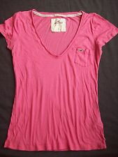 Hollister Short sleeve Shirt Women's/Junior's Sz S Pink CALI SHEER EUC MUST SEE