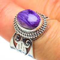 Charoite 925 Sterling Silver Ring Size 7.25 Ana Co Jewelry R46136