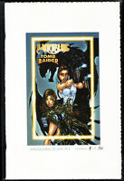 WITCHBLADE TOMB RAIDER MUSEUM EDITION lim. 4 of 50 Michael Turner Cover NM Aspen