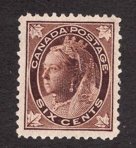 #71 - 1897 - 6 Cent - Canada - MH - cv $200 as VF - Superfleas - Superb center