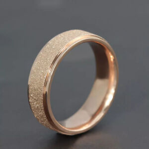 Ring Rose Gold  Color  Stainless Steel Rings Size 12 Gift Party Jewelry