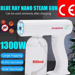 800ml Spray Gun Electric Blue Light Nano Disinfectant Sprayer Home Car Handheld