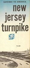 Official 1964 Road Map New Jersey Turnpike Howard Johnson's Cities Service Gas