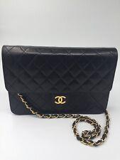 61ae780b592316 Authentic CHANEL Classic Lambskin Chain Flap Bag/clutch 25 black/gold