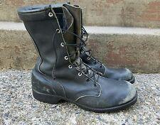 Men's US Military Combat Motorcycle Biker Lace Up Black Boots Vintage - Size 8.5