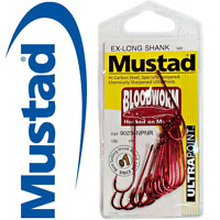 3 x MUSTAD Bloodworm Chemically Sharpened Fishing Hooks Choose your size