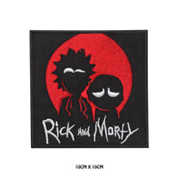 Rick and Morty TV Serial Embroidered Iron on Patch Sew On Badge