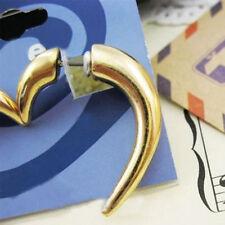 Gold Spike Rivet Chain Ear Cuff Cartilage Stud Post Earring Punk Rock