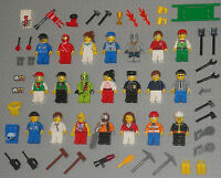 Lego MINIFIGURE Lot 21 Town People Girls Baseball Police Mummy Minifigs Guys