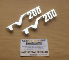 LAMBRETTA SERIES 2 TV200 CHROME SIDE PANEL BADGE SET . NEW