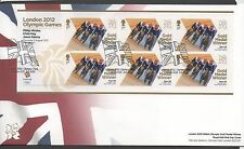 GB 2012 Official FDC Olympics Sheetlet 2nd aug Philip Hinds et al 6 stamps