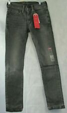 Levi's Men's 519 Extreme Skinny Fit Ripped Jeans, Faded Black, 28x29