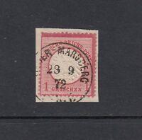 Deutsches Reich Mi-Nr. 19 gestempelt auf Briefstück - geprüft Krug BPP