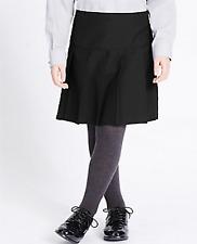 Ex Marks & Spencer Girls School Skirt Black/Grey/Navy Blue