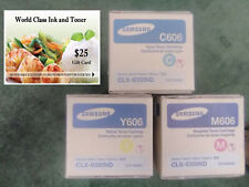Samsung 606S Value Pack (3) HIGH YIELD C/M/Y CLX-9350 Series +FREE GIFT CARD