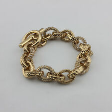 Top Classic Crystal Pave Link Chain Chunky Bracelet Fashion Bracelets for Women