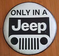 METAL JEEP DECOR cherokee wrangler emblem black white compass military vehicle