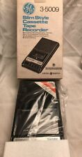 VINTAGE GE SLIM STYLE CASSETTE TAPE RECORDER 3-5009B GENERAL ELECTRIC NEW W/ BOX