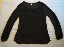 Pulli Pullover Langarmshirt leicht transparent Gr. 34 Oversize Divided schwarz