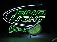 Bud Light Green Lime Logo Neon Sign Beer Bar Light FREE SHIPPING [BEST DESIGNED]