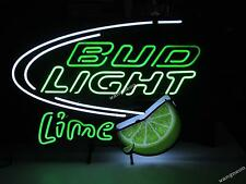 Bud Light Green Lime Logo Neon Sign Beer Bar Light FREE SHIPPING [BEST DESIGNED]