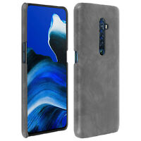 Oppo Reno 2 Protection Case, Resistan, Faux Leather, Vintage, Grey