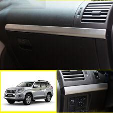 For Toyota prado FJ150 2010-2019 silver steel dashboard Co-pilot strip trim 2pcs