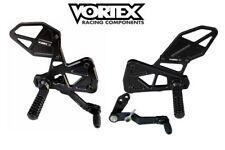 2017-2018 GSXR1000 BLACK Vortex Adjustable RearSets V3 RS591K GSX-R 1000