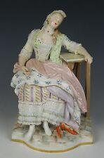 "Meissen Acier Figurine E58 ""Girl Sleeping in Chair"" WorldWide"