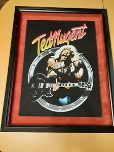 Autographed Professionally Framed Ted Nugent Concert Tour Shirt Rock n Roll