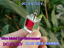 Micro Inhaled Push Pull Type Electromagnet Solenoid Frame Type DIY DC 6V-12V