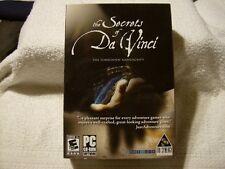 VTG The Secrets of Da Vinci The Forbidden Manuscript 2006 PC GAME / NEW / SEALED