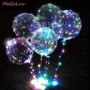 20'' Luminous Transparent Bobo Bubble Ballons Wedding Birthday Party Decor Hot