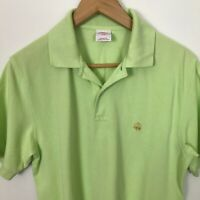 Brooks Brothers Short Sleeve Small Lime Green Polo 100% Cotton Shirt