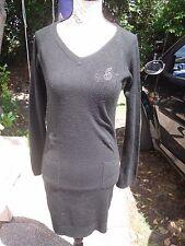 Robe courte moulante noire manches longues femme ou ado KAPORAL taille 36 16 ans