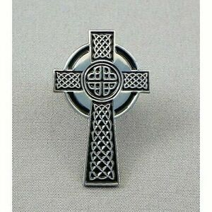 CELTIC CROSS Lapel Pin Badge/Brooch ~~ FREE UK p&p ~~ ONLY £3.95