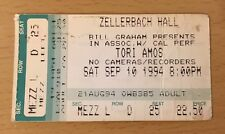 1994 TORI AMOS UNIVERSITY OF CAL BERKELEY CONCERT TICKET UNDER THE PINK TOUR
