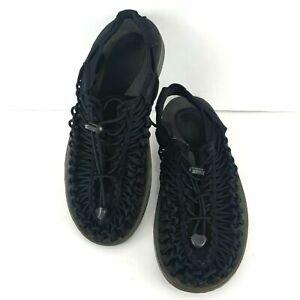 KEEN Uneek Men's Size 40.5 US 8 Sport Water Sandals Weave Cord Shoes Black