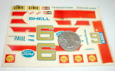 Century Ford 6 Shell Water Slide Model Car Decals MPC 7412 1/25th Vintage