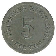 Deutsches Reich 5 Pfennig 1892 E A50216