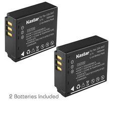 2x Kastar Battery for Panasonic Lumix CGA-S007 DMC-TZ1 DMC-TZ2 DMC-TZ3 DMC-TZ4