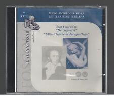 Ugo Foscolo DEI SEPOLCRI / ULTIME LETTERE DI... il Narratore 2002 Audiolibro