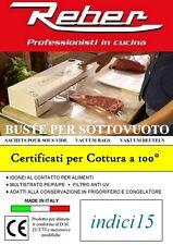 Buste Sacchetti Goffrati 100pz 20x25 3 strati Accessori Sottovuoto ® Reber