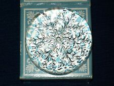 """Avon clear glass Crystal """"Snowflake"""" Paperweight w/Box France"""