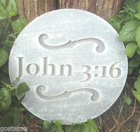 "John 3:16 mold concrete plaster religious casting mould  10"" x 3/4"" thick"